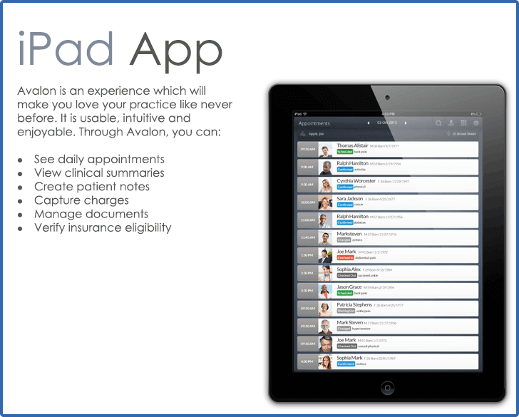 CureMD iPad Application