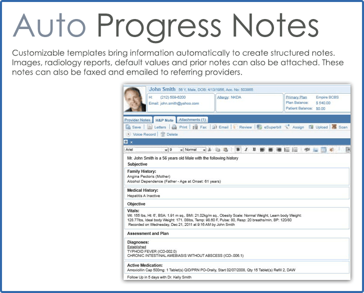 CureMD Progress Notes